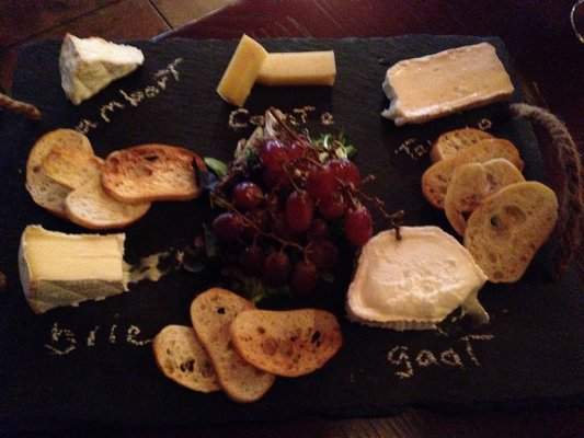 Five cheese platter