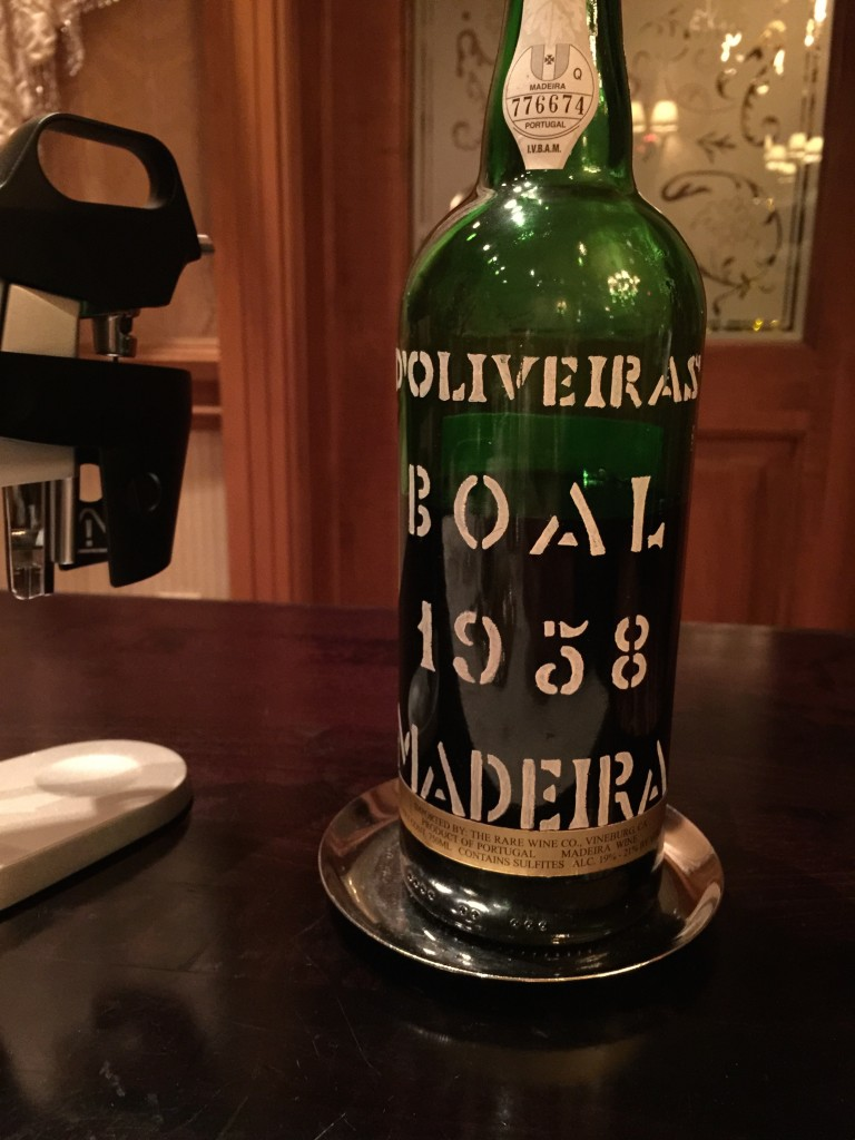 a great bottle of Madiera