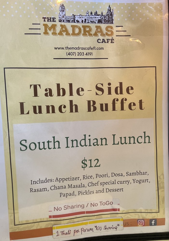 South Indian Lunch Thali