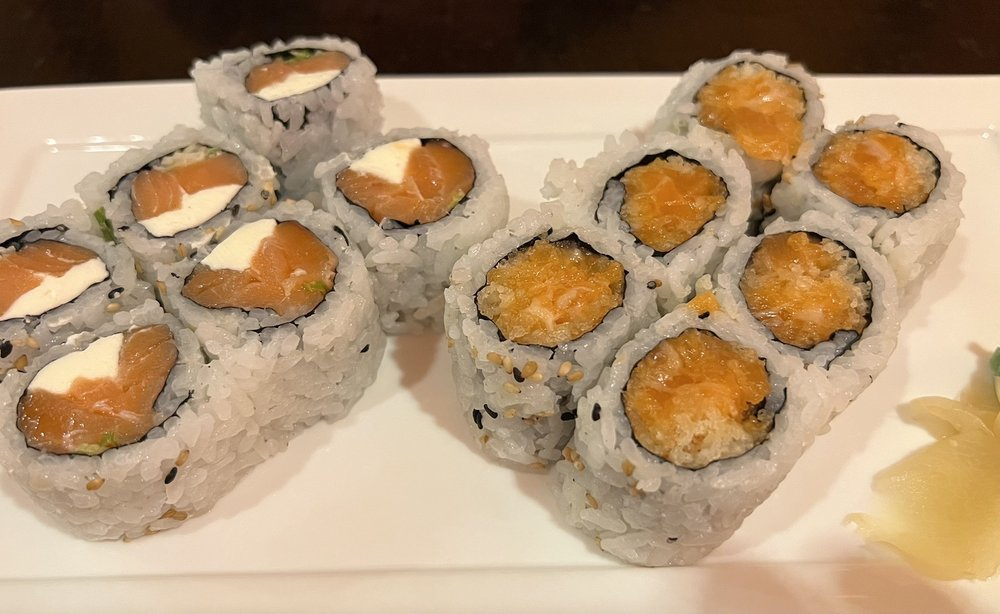 Philadelphia Roll and spicy salmon